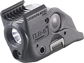 Streamlight 69293 TLR-6 Tactical Pistol Mount Flashlight 100 Lumen with Integrated Red Aiming Laser Only for M&P Railed Hand Guns, Black - 100 Lumens (Renewed)