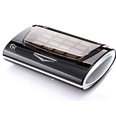 ClearHouse Portable Car and Home Air Purifier. Includes Spare HEPA Filter, 12V Home Adapter, USB charger and UV Light - Odors, Smells, Smoke, Germs, Multi-Filtration, Essential Oils (Black/Silver)