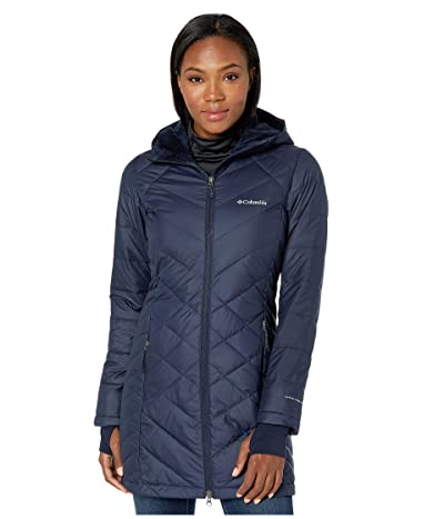 Columbia Heavenly Long Hooded Jacket (Dark Nocturnal) Women