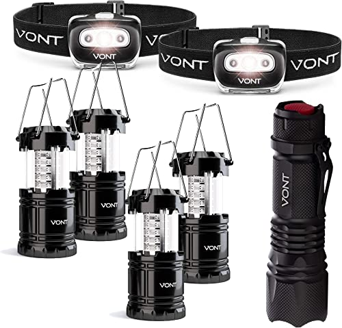 wholesale Vont 2-Pack Spark Headlamp + 4-Pack Lantern + XOR Flashlight Bundle - Best for Emergencies and Outages - Complete Lighting outlet sale Bundle for the Outdoor outlet sale Lover - Camping, Hiking, Hunting, Backpacking, Caving outlet online sale