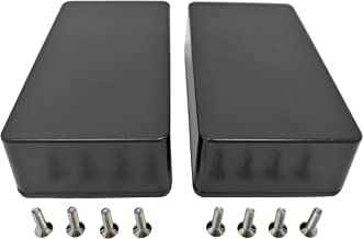 2 pcs 1590B diecast Aluminum Enclosure (standard size) black
