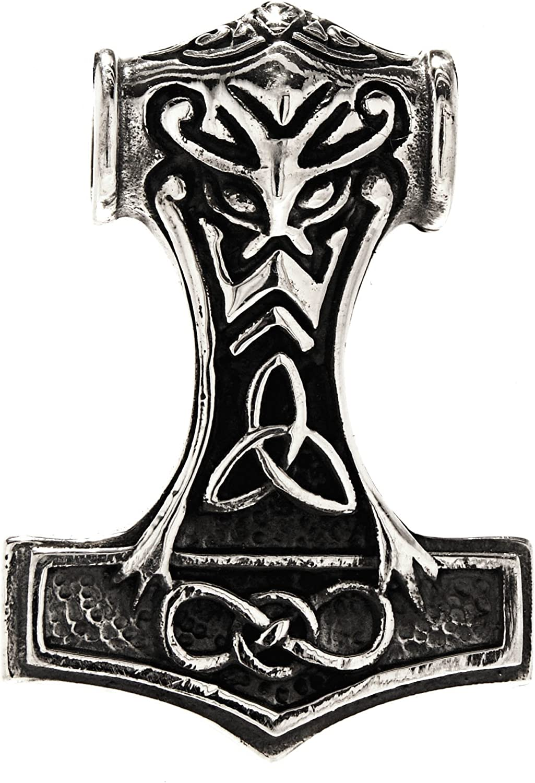 Kiss of Leather 244 - Colgante de martillo de Thor (plata de ley 925)
