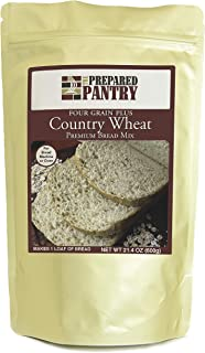 Sponsored Ad - The Prepared Pantry Four Grain Country Wheat Bread Mix; Single Pack; For Bread Machine or Oven