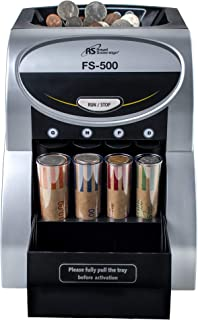 Royal Sovereign 1 Row Electric Coin Sorter, Patented Anti-Jam Technology (FS-500)