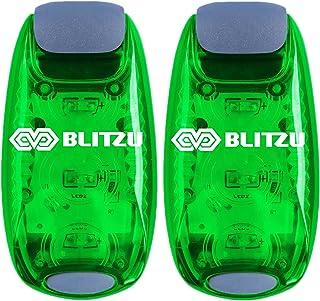 BLITZU Cyborg LED Safety Light 2 Pack + Bonus Free - کلیپ On Run Lights Runner، Kids، Joggers، Bike، سگ، پیاده روی بهترین لوازم جانبی چرخ دنده منعکس کننده شما، شب، دوچرخه سواری