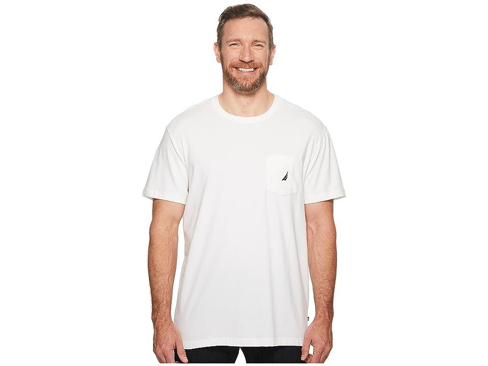 Nautica Big & Tall Big Tall Short Sleeve Anchor Pocket Tee (Bright White) Men