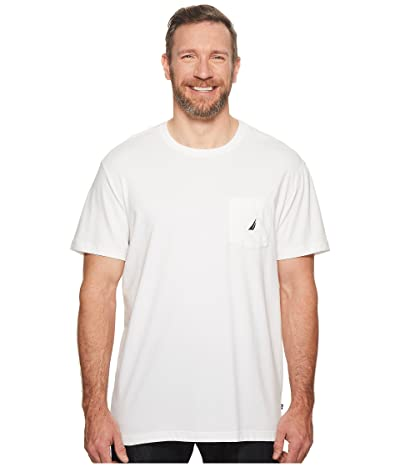 Nautica Big & Tall Big Tall Short Sleeve Anchor Pocket Tee (Bright White) Men
