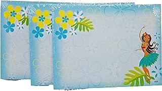 Aloha Sticky Notes - Blue Hawaiian Hula Dancer Paper, 4x3 50 Sheets, 3 Pack