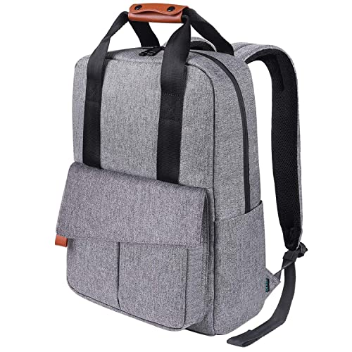 REYLEO Business Laptop Backpack 15.6 Anti-Theft Notebook Rucksack Casual  Daypack with Leather Handle for fd81b621db0b9