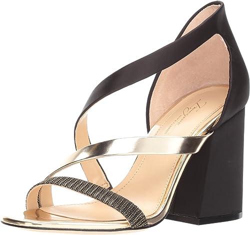 Imagine Vince Camuto damen& 039;s ABI Heeled Sandal, schwarz Soft Gold, 9.5 Medium US