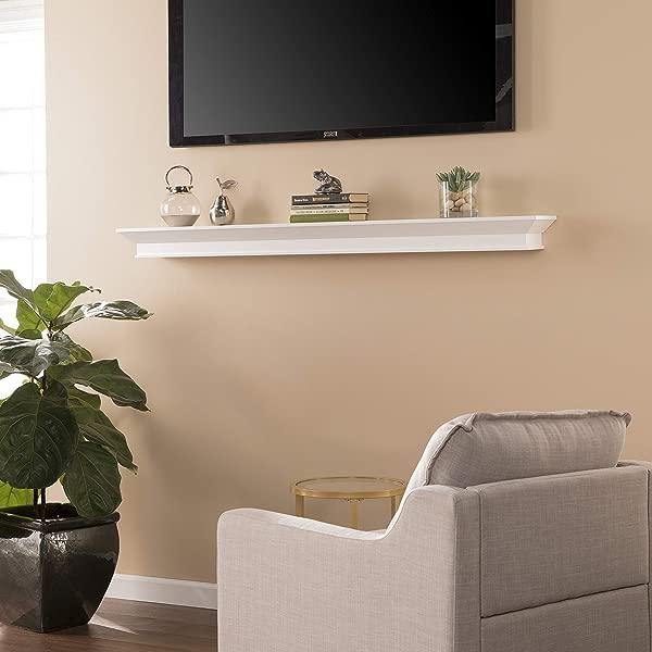 Southern Enterprises Afton Wall Shelf White