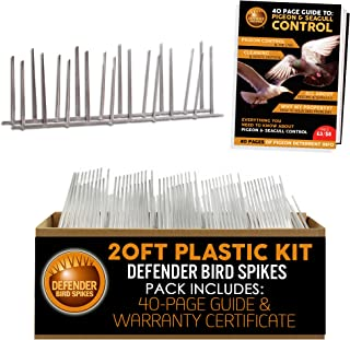 Defender Bird Spikes | Plastic | Install Guide | 20 Feet | Various Size Kits