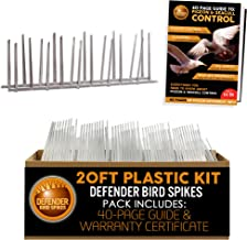 Defender Bird Spikes   Plastic   Install Guide   20 Feet   Various Size Kits