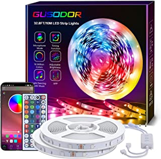 GUSODOR Tira de LED 10M, Luces LED Habitacióndecon 5050 RGB, Tiras Led Control de APP y de Control Remoto para el Hogar/Co...