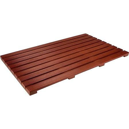 "Trademark Innovations 31.5"" Solid Teak Wood Non Slip Spa Shower or Door Mat"