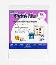 Grafix KSF6-WIJ Printable Shrink Film 8.5X11 6PC, 6-Pack, White, 6 Count