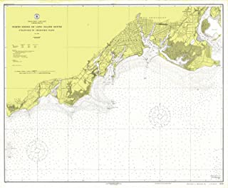 Map - North Shore Of Long Island Sound, 1919 Nautical NOAA Chart - Vintage Wall Art - 24in x 18in