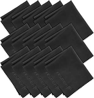 Microfiber Cleaning Cloths (15 Pack), Fosmon 6 x 7 inch Dust Rag Towels for Eyeglasses, LCD Screen, Digital Video Camera Lens, Laptop, HDTV, PC, Monitor Screen, Smartphones, Tablet, and More