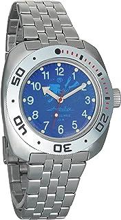 Vostok Amphibian Automatic Mens Wristwatch Self-Winding Military Diver Amphibia Case Wrist Watch #710656
