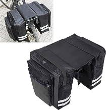 Sunshine smile Fietstas, bagagedrager, 30 liter, voor fiets, dubbele tas, waterdicht, fietstas, achterbank, tas, fietstas,...