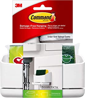 Sponsored Ad - Command Under Sink Sponge Caddy, 1 Caddy, 4 Strips, White (17609-HWES)