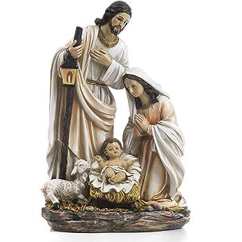 25,4 x 26,6 Paben Articoli Religiosi Gruppo Nativit/à Presepe con Re Magi in Resina cm
