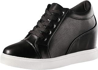 wealsex Donna Nascosto Zeppe Sneakers Donna Ragazze Piattaforma Elegante Aiuto Basso Scarpe da Ginnastica Casuali