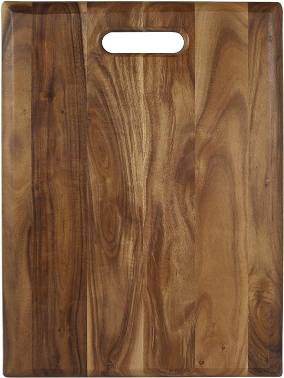 Architec Gripperwood Bare Acacia Cutting Board Non Slip Gripper Feet 11 By 17 Cutting Board Bare Kitchen Dining Amazon Com