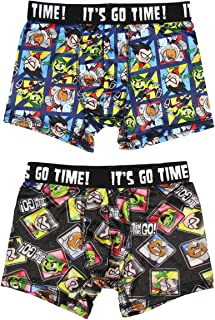 Teen Titans Go! Characters 2 Pack Boys Boxer Briefs Underwear