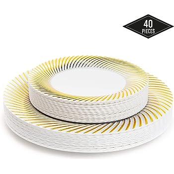 piatti plastica rigida oro