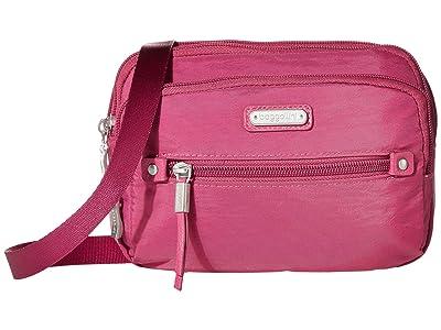Baggallini New Classic Time Zone RFID Crossbody Bag (Deep Fuchsia) Cross Body Handbags