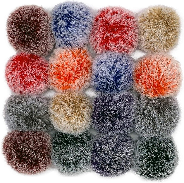 Simida 16 Pcs Pom Poms Super popular specialty store Hats for Fur Bargain sale Maker Balls