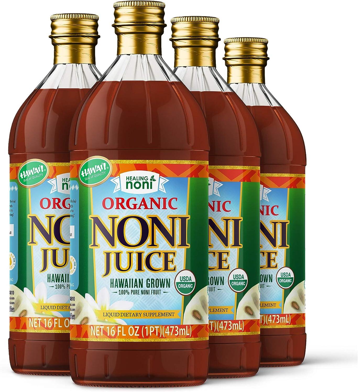 Organic Hawaiian Noni Juice - Inexpensive 4 16oz Glass … of In stock Pack Bottles