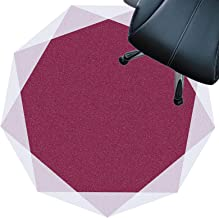 Rug for Desk Chair Short Pile Carpets Anti Slip Rug Pad Silent Floor Mat Easy to Clean Floor Protector Mat(Size:120cm,Colo...