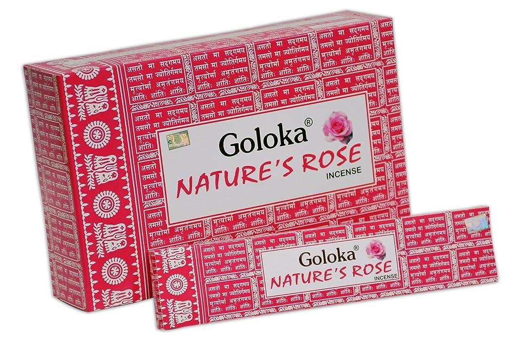 頬骨ダルセット名門Goloka自然シリーズコレクションHigh End Incense sticks- 6ボックスの15?gms (合計90?gms)
