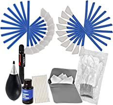 VSGO Camera Cleaning Kit All-Powerful Edition DKL-3 Full Frame and APS-C Sensor Cleaning Swab Air Blower Anti-Static Gloves Lens Pen, Blue