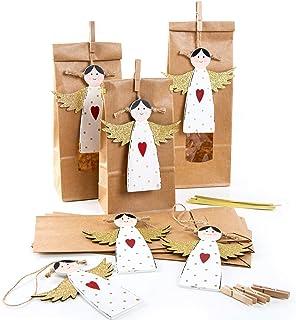 banderolas de caballo regalo para invitados 10 unidades envoltorio de regalo Bolsas de papel con dise/ño de lunares rosa y blanco Logbuch-Verlag medalla de DANKE para ni/ños
