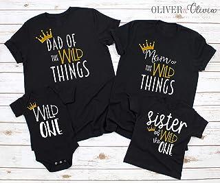 Family Wild One Shirts 1st Birthday Shirt Wild One Birthday Shirt Mom of the Wild One Dad of the Wild One Sister of the Wild One Brother