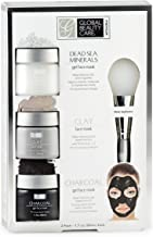 Dead Sea Minerals, Clay, Charcoal Gel Face Mask with Applicator