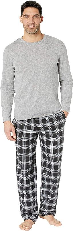 Flannel Sleep Pants & Jersey Top Box Set