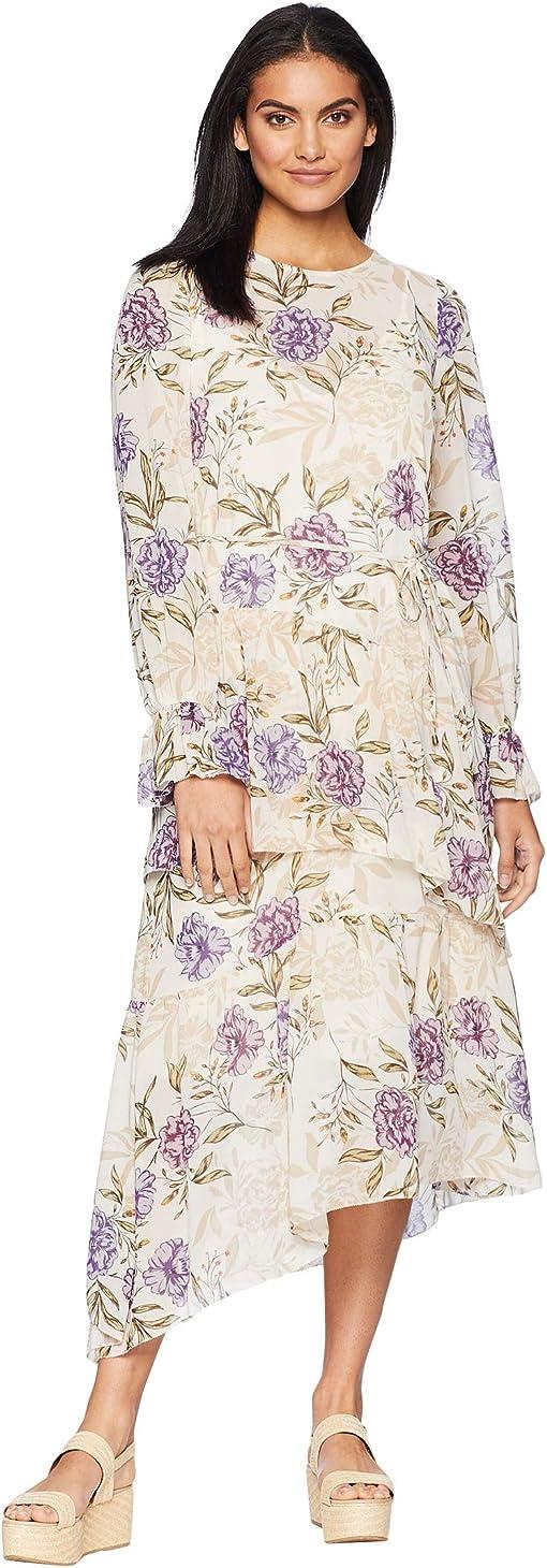 Cream/Lilac Floral