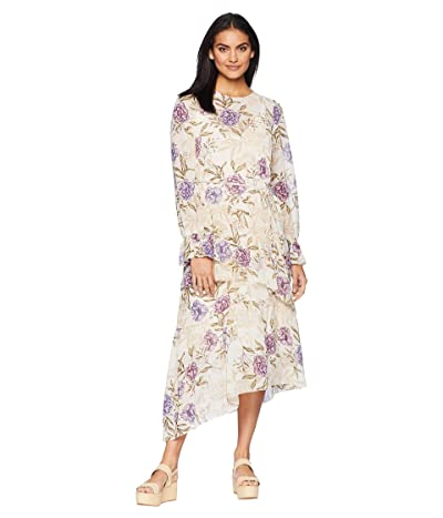 ASTR the Label Mona Dress (Cream/Lilac Floral) Women