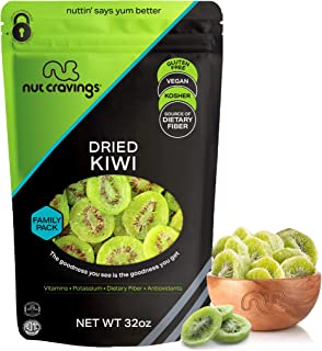 Sun Dried Kiwi Slices, with Sugar Added (32oz - 2 Pound) Packed Fresh in Resealable Bag - Sweet Dehydrated Fruit Treat, Tr...