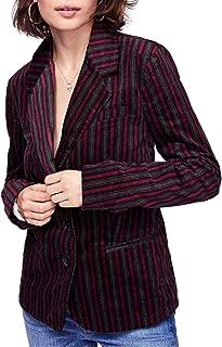 Womens Striped B-Line Blazer