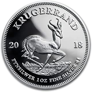 2018 ZA South Africa 1 oz Silver Krugerrand Proof 1 OZ Brilliant Uncirculated