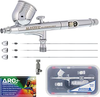 Master Airbrush Master Performance G233 Pro Set with 3 Nozzle Sets (0.2, 0.3 & 0.5mm..