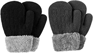 Winter Mitten Gloves For Baby Kids Toddler Infant Newborn, Cute Warm Fleece Lined Knit Thick Thermal Gloves For Boys Girls