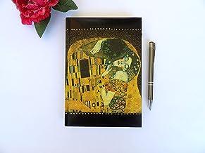 Agenda 2020 Gustav Klimt El Beso A5 Dìa Página, Planificador Anual, Floral Regalo de Navidad para Ella, Vista por Dìa, Tapa Dura, Art Diario