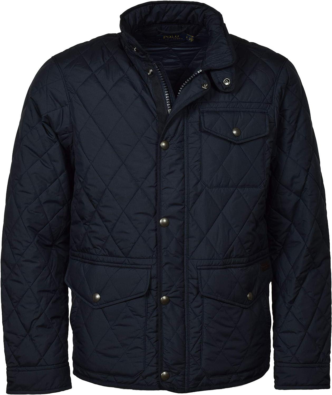 Ralph Lauren mens Classic Long Sleeve Quilted Zip-up Jacket
