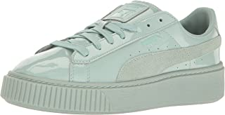 PUMA Women's Basket Platform Patent Fashion Sneaker